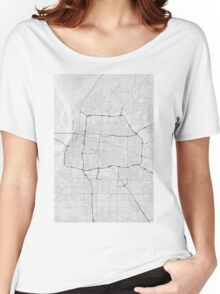 Memphis, USA Map. (Black on white) Women's Relaxed Fit T-Shirt