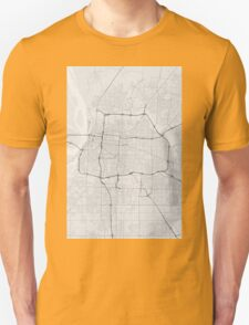 Memphis, USA Map. (Black on white) Unisex T-Shirt