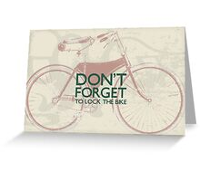 Vintage Hipster Gifts For Bike Lovers Design Greeting Card