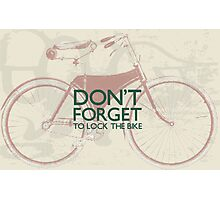 Vintage Hipster Gifts For Bike Lovers Design Photographic Print