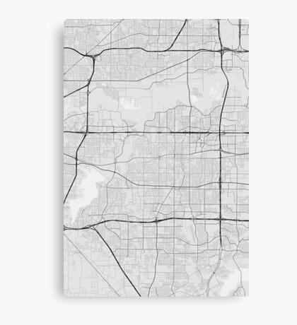 Arlington, USA Map. (Black on white) Canvas Print