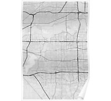 Arlington, USA Map. (Black on white) Poster