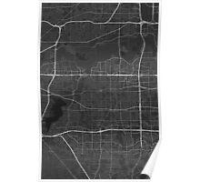 Arlington, USA Map. (White on black) Poster