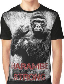 Harambe Strong Graphic T-Shirt