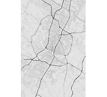 Austin, USA Map. (Black on white) Photographic Print