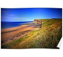 Hunt Cliff and Saltburn Beach, North Yorkshire, England ( 3 Features)  Poster