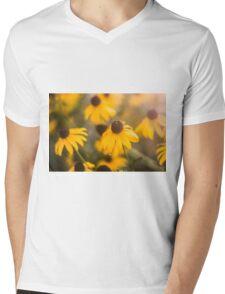 Sunshine Haze on Black-Eyed Susans Mens V-Neck T-Shirt