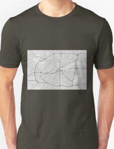 Fort Worth, USA Map. (Black on white) Unisex T-Shirt
