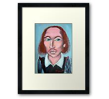 William shakespeare por Diego Manuel Framed Print