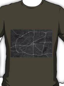Fort Worth, USA Map. (White on black) T-Shirt