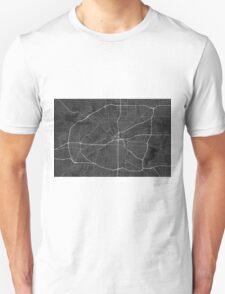 Fort Worth, USA Map. (White on black) Unisex T-Shirt
