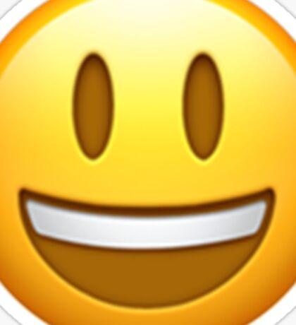 Emoji Grin Long Sticker