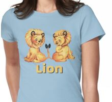 Cute Baby Lion pajama pattern adorable baby animals Womens Fitted T-Shirt