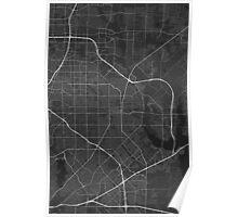 Garland, USA Map. (White on black) Poster