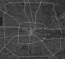 Houston, USA Map. (White on black) by Graphical-Maps