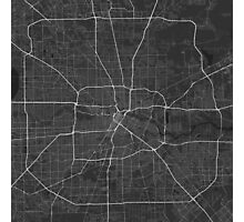 Houston, USA Map. (White on black) Photographic Print