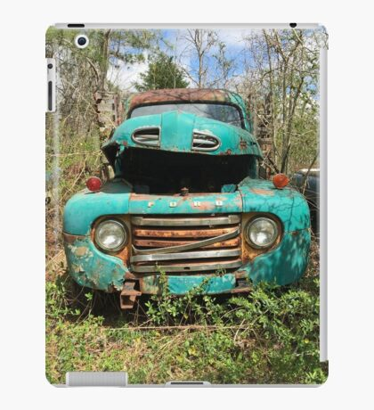 Abandoned Teal Ford Pickup Truck iPad Case/Skin