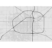 Lubbock, USA Map. (Black on white) Photographic Print