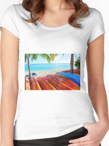 A Day in Paradise Women's Fitted Scoop T-Shirt