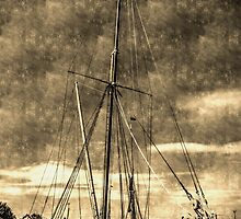 Thames Sailing Barge vintage by DavidHornchurch