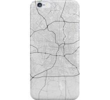 San Antonio, USA Map. (Black on white) iPhone Case/Skin
