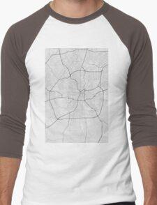 San Antonio, USA Map. (Black on white) Men's Baseball ¾ T-Shirt