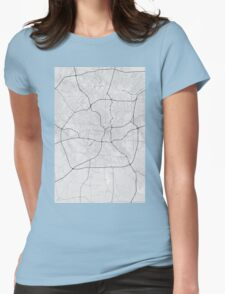 San Antonio, USA Map. (Black on white) Womens Fitted T-Shirt