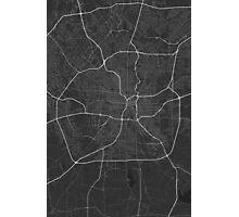 San Antonio, USA Map. (White on black) Photographic Print