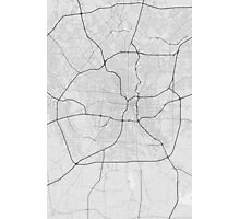San Antonio, USA Map. (Black on white) Photographic Print