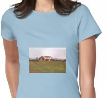Farm shed  by Liz H Lovell Womens Fitted T-Shirt