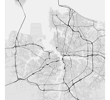 Norfolk, USA Map. (Black on white) Photographic Print