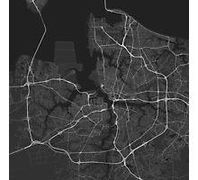 Norfolk, USA Map. (White on black) Photographic Print