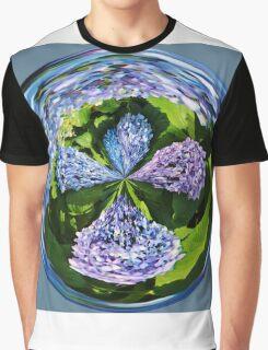 Hydrangea Cross Graphic T-Shirt