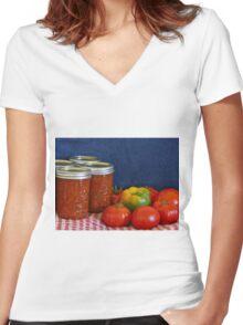 Salsa Still Life Women's Fitted V-Neck T-Shirt