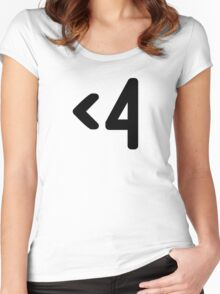 <4 (Black) Women's Fitted Scoop T-Shirt