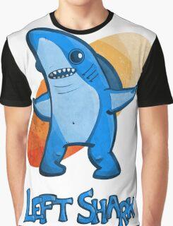 Left Shark Cartoon Stylized Graphic T-Shirt