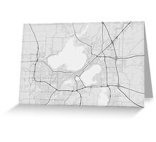 Madison, USA Map. (Black on white) Greeting Card