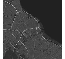 Buenos Aires, Argentina Map. (White on black) Photographic Print
