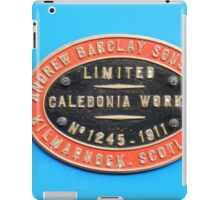 Andrew Barclay Sons and Co works plate colour iPad Case/Skin