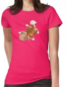 """Cat - """"Cat Box"""" Womens Fitted T-Shirt"""