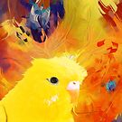 abstract yellow bird by cakkamvret