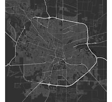 Cordoba, Argentina Map. (White on black) Photographic Print