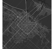 La Plata, Argentina Map. (White on black) Photographic Print