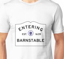 Entering Barnstable - Commonwealth of Massachusetts Road Sign Unisex T-Shirt