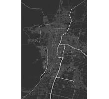 Mendoza, Argentina Map. (White on black) Photographic Print