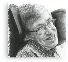 """A TIMELESS SMILE """"STEPHEN HAWKING"""" Canvas Print"""