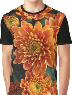 Orange Mums Graphic T-Shirt