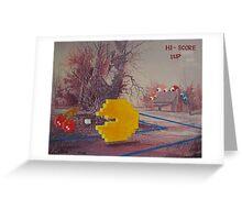 8 Bit Landscape Greeting Card