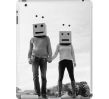 Robots Black & White iPad Case/Skin