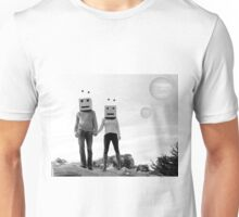 Robots Black & White Unisex T-Shirt